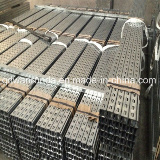 China Manufacturer Galvanized Steel C Shaped Slotted Unistrut Channel
