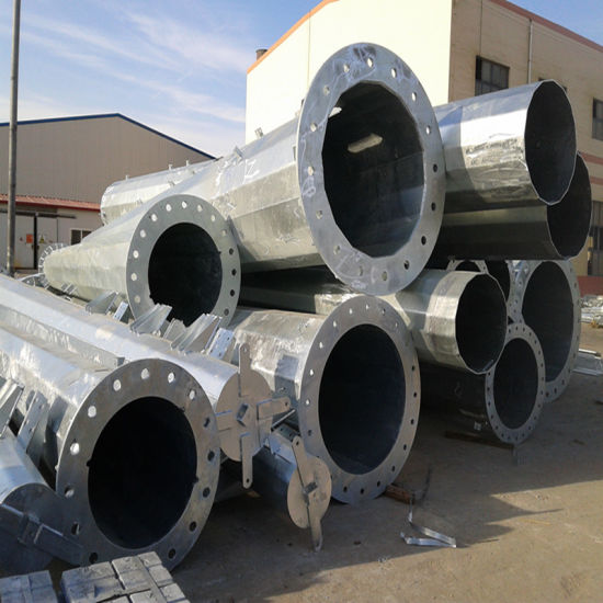 Hot DIP Galvanized Steel Pipe with Welded Flange for Power
