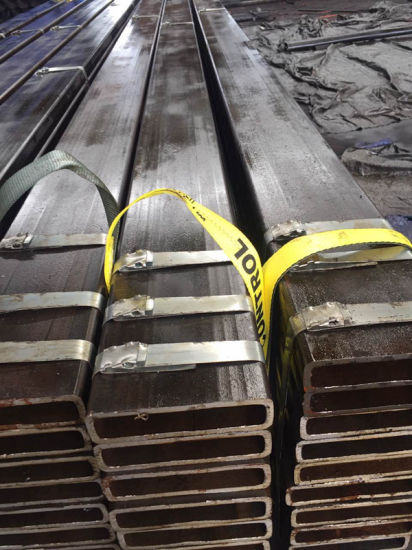 Rectangular Steel Pipe Size 200X50X8mm for Machine Industry Application