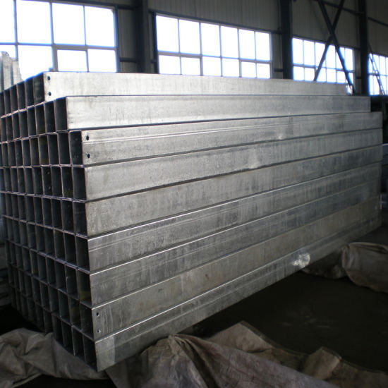 100X200X6mm Galvanized Rectangular Tube with Holes