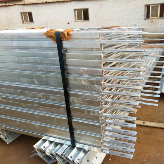 Hot DIP Galvanized Steel Rail Easy to Assemble