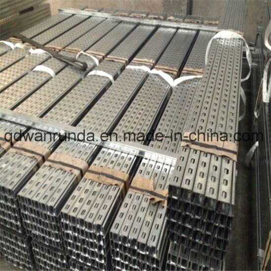 Pre-Galvanized Unistrut Channel with Width 41.3mm/38.1mm/31.8mm/21mm