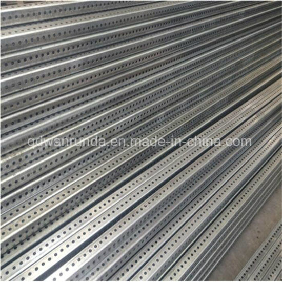 Plain/Pre-Galvanized/HDG/Powder Coating Perforated Tube